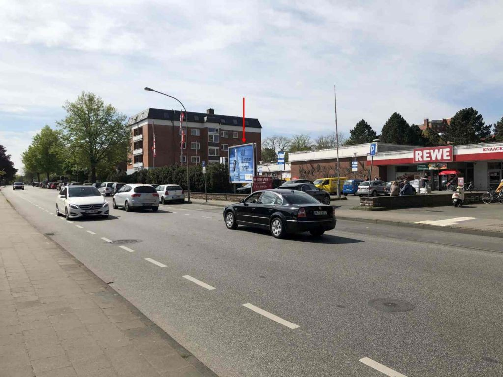 Mönkhofer Weg 52. REWE. Sicht Straße