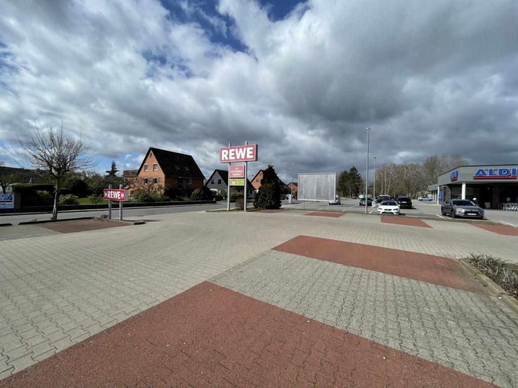Industriestraße 30. REWE. Sicht REWE