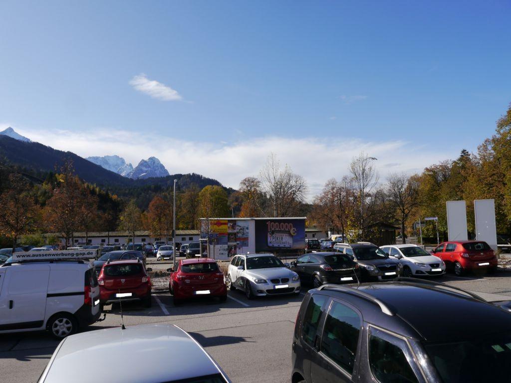 Auenstraße, Parkplatz Klinikum Garmisch Partenkirchen