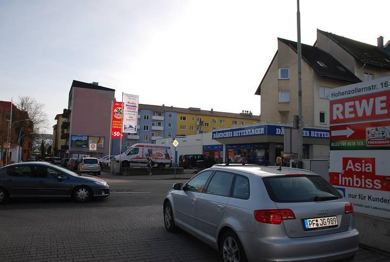Gutenbergstr. 7/Hohenzollernstr/geg. Rewe (Einfahrt)