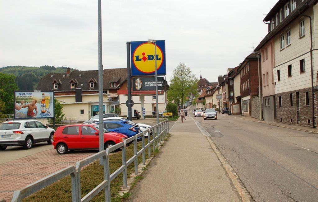 Donaueschinger Str. 4 /Lidl/Einfahrt (quer zur Str)