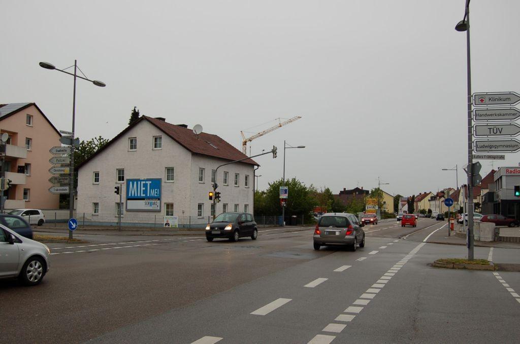 Landshuter Str. 94/Rückertstr/neb. Netto (quer am Giebel)