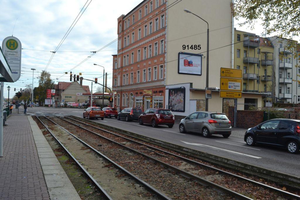Damaschkestr quer/Merseburger Str 210 (B 91)