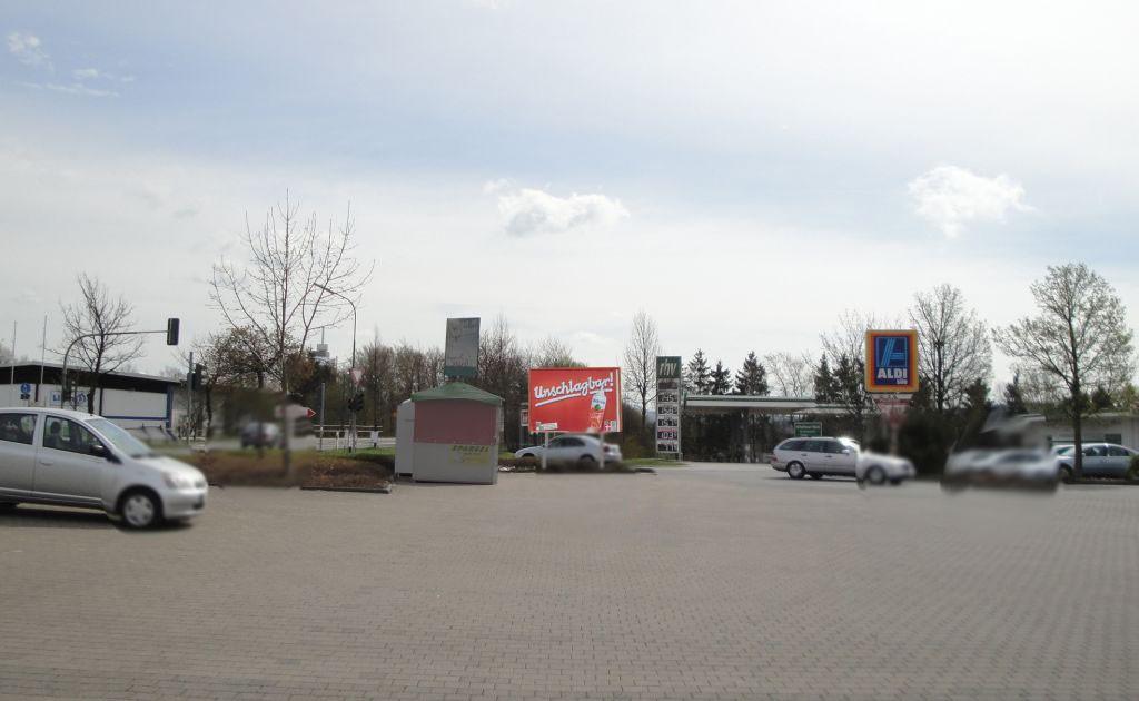 FMZ Turmstr. (L 3377)  / In den Gründen / Aldi, Logo u. Rewe (PP) Einf.
