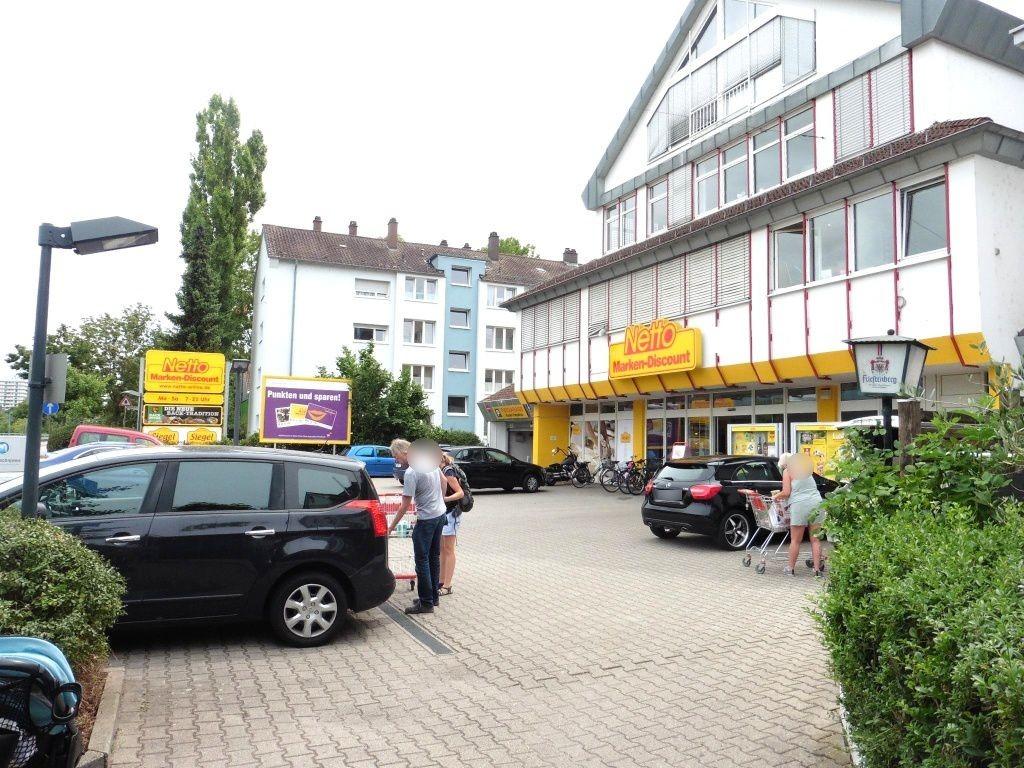 Mannheimer Str. 177 re. quer Eing. Netto