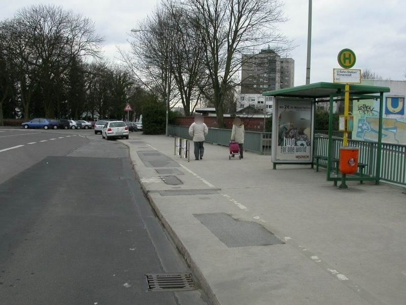 I. d. Römerstadt/U-Bf Römerst. Ri. NWZ/innen