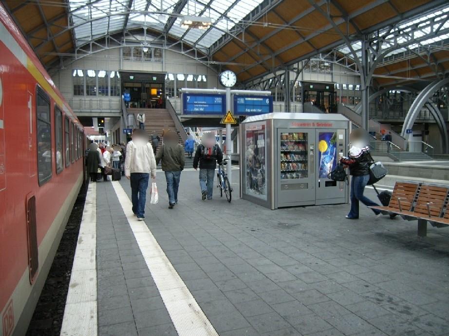 Hbf, Bahnsteig Gleis 7 im Warenautomat