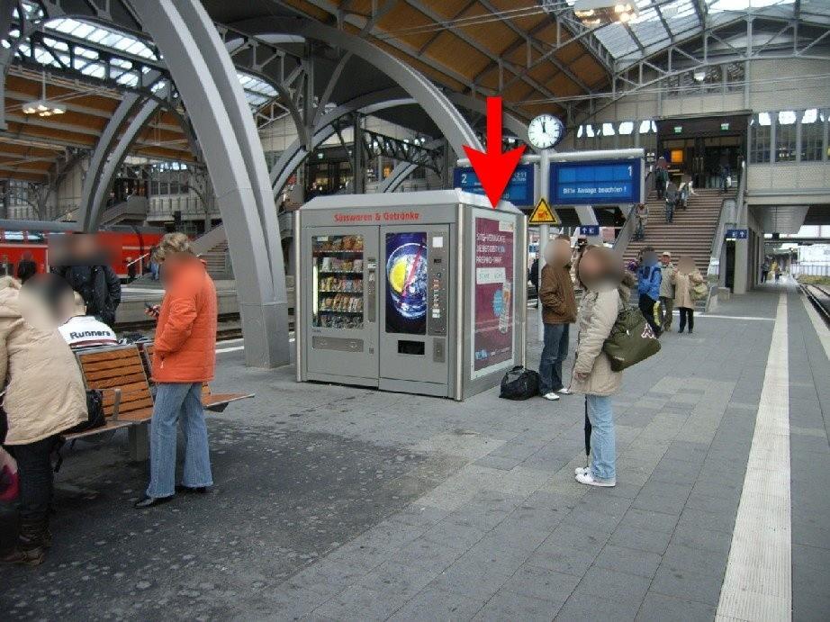 Hbf, Bahnsteig Gleis 1 im Warenautomat