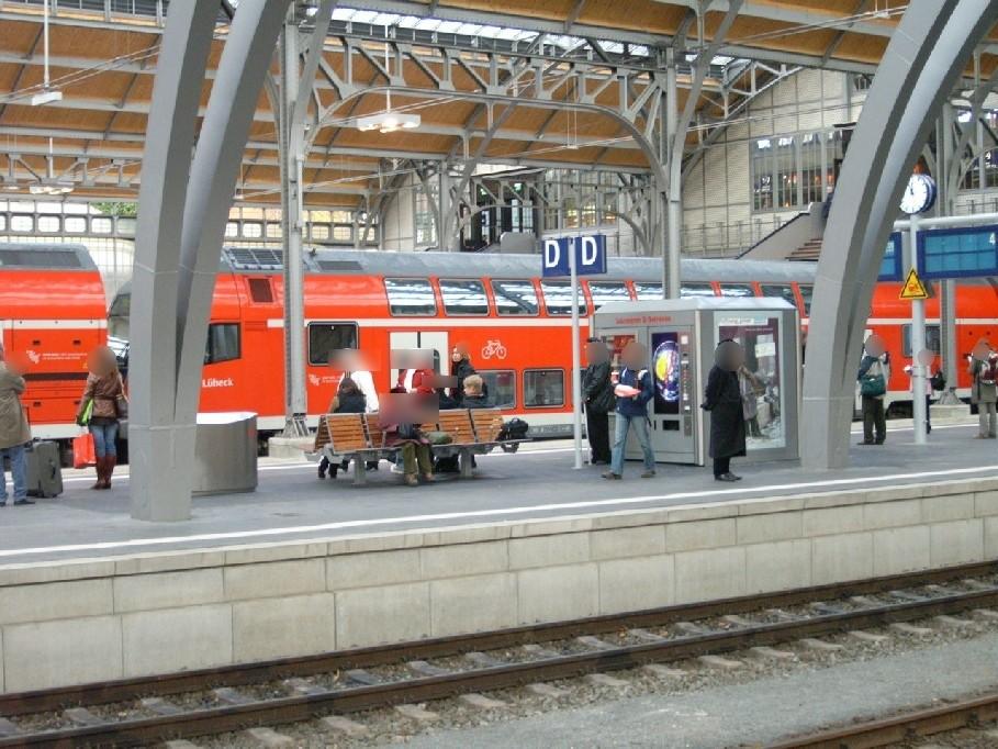 Hbf, Bahnsteig Gleis 6 im Warenautomat