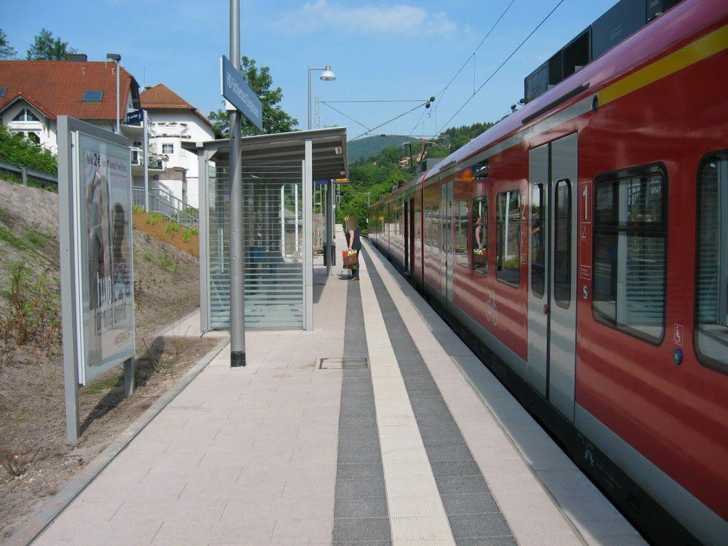 S-Bf Schlierbach- Ziegelhausen, Bstg., Gleis 2