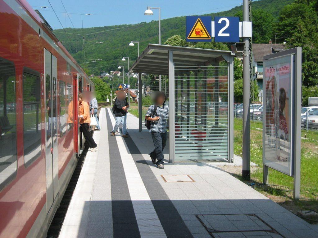 Bf Neckarsteinach, Bstg., Gleis 2