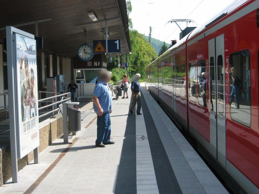 Bf Neckargemünd,Bstg., Gleis 1