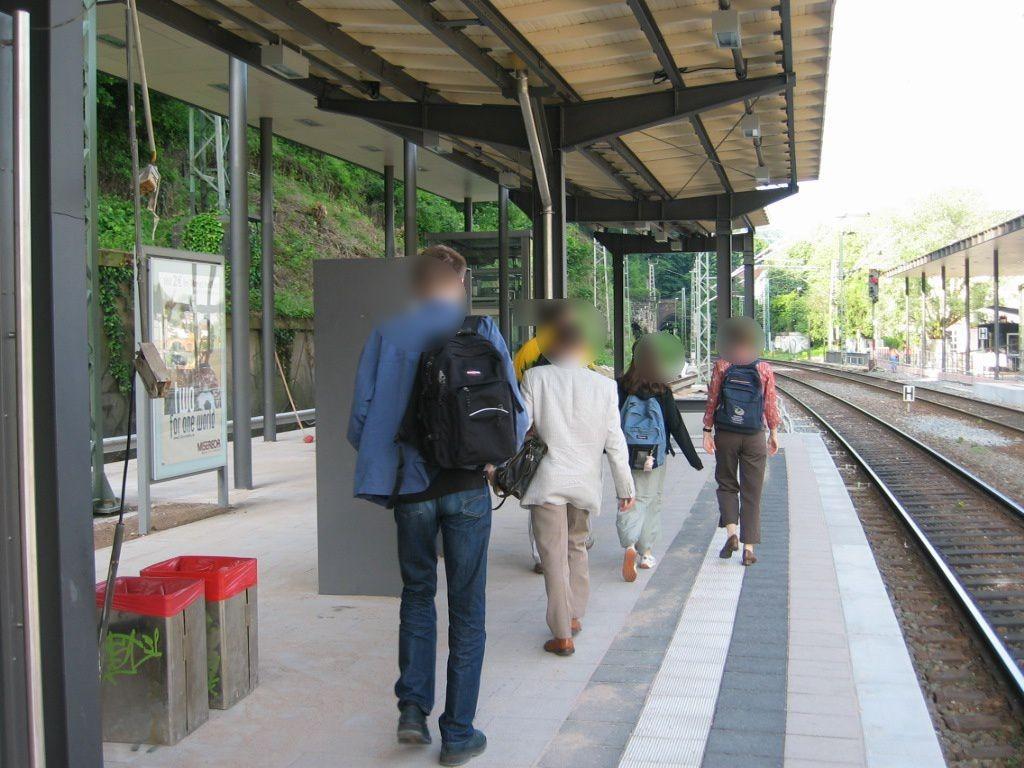 Bf Altstadt, Bstg., Gleis 2, Sicht Gleis 1