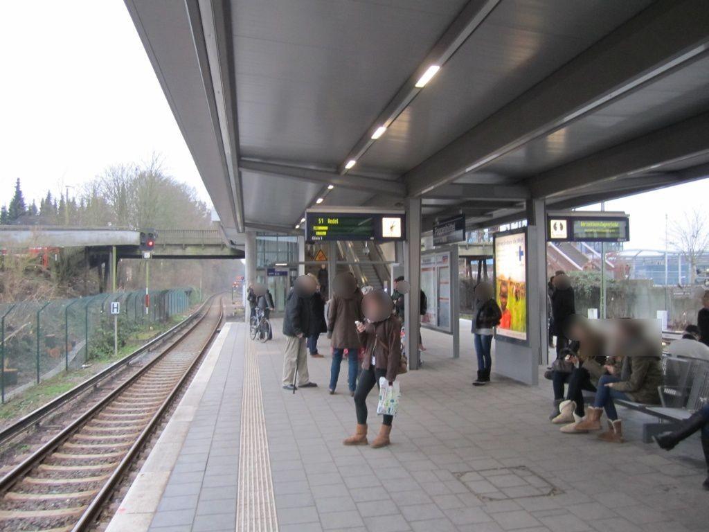 S-Bf Poppenbüttel, Bstg., Gleis 1