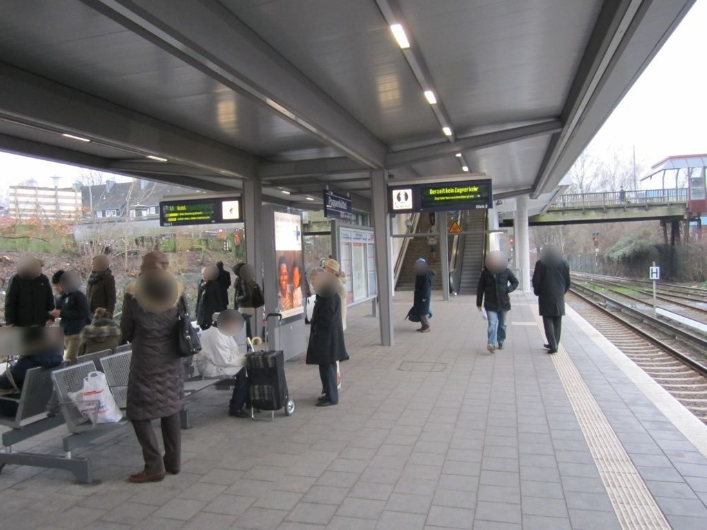 S-Bf Poppenbüttel, Bstg., Gleis 2