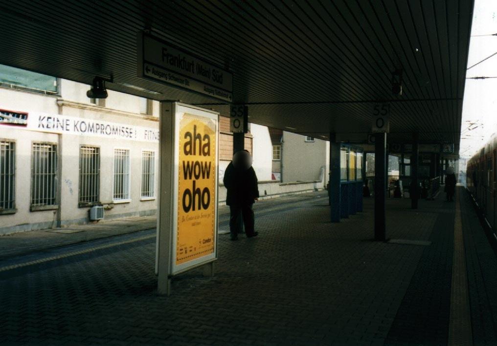 S-Bf Süd, Bstg., Gleis 2, 3. Sto.