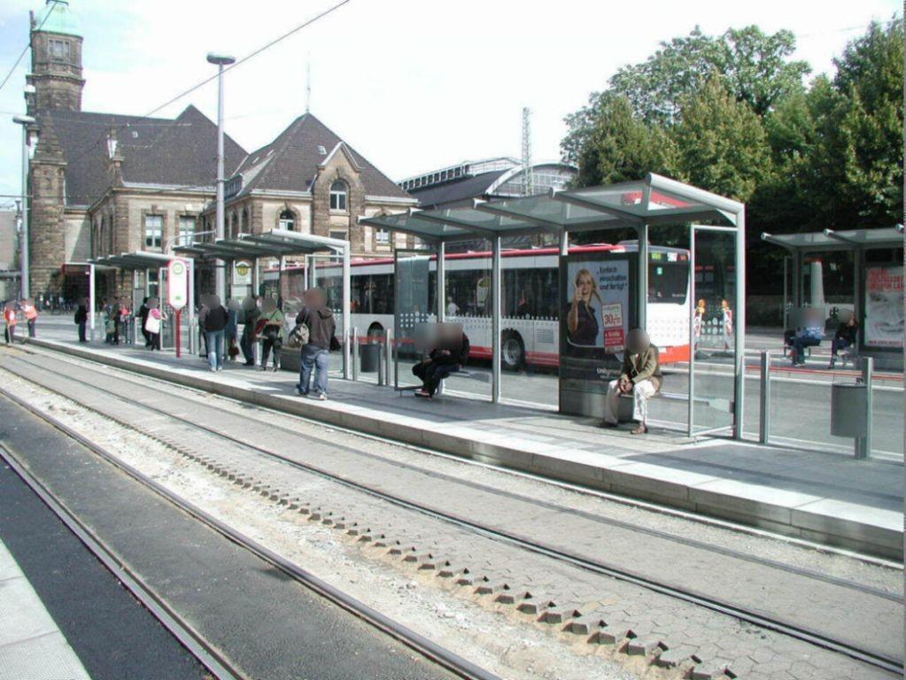 Hbf. StraBa-Steig 3 Sicht Hansa-Centrum