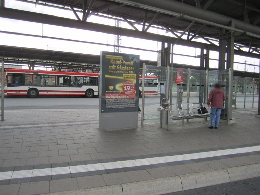 Bahnhofstr./ZOB, Bussteig 3-4, Si. Gleise