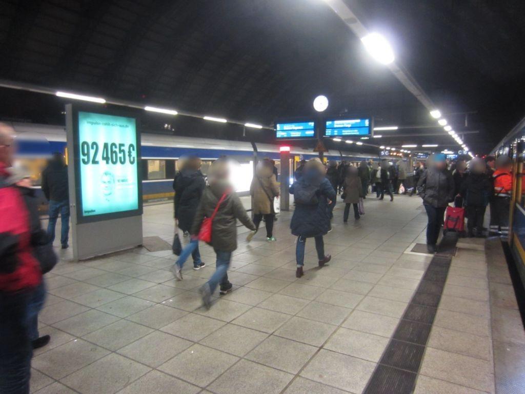 Hbf, Bahnsteig Gleis 5/6 Abschnitt B, Seite Gl. 6
