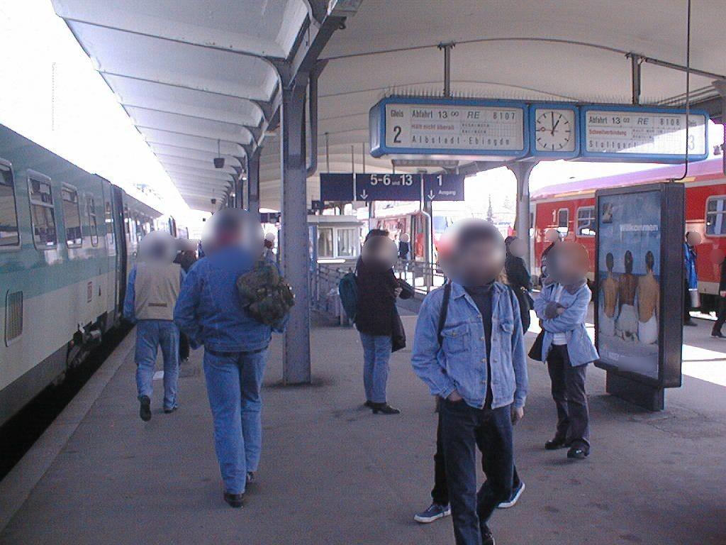 Hbf, Bstg., Gleis 2/3 Ri. Horb/Sicht Gl. 2