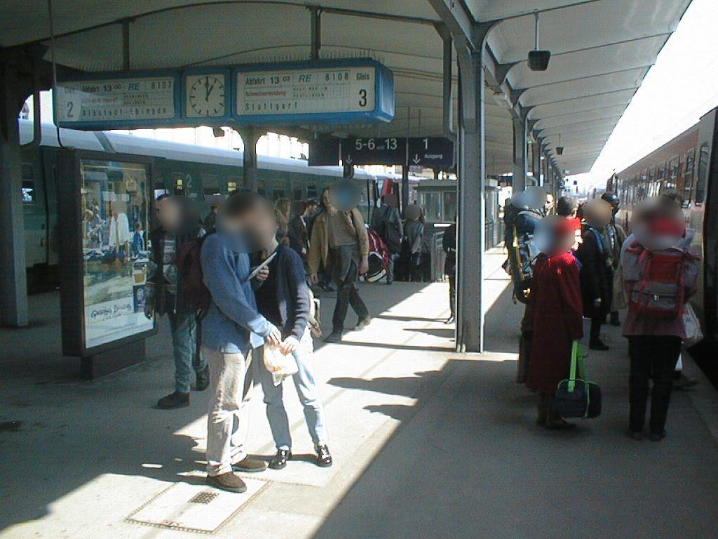Hbf, Bstg., Gleis 2/3 Ri. Horb/Sicht Gl. 3