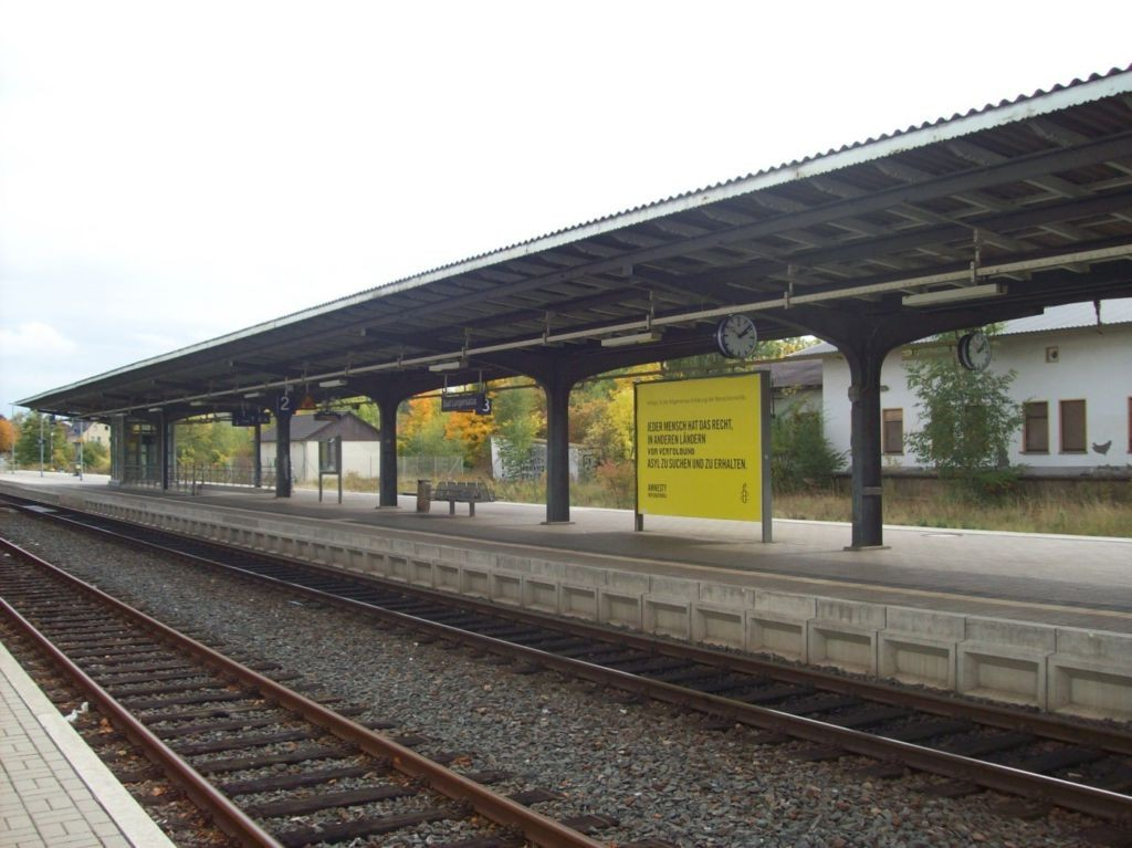 Bf Bad Langensalza, Bahnsteig Sicht Gleis 2