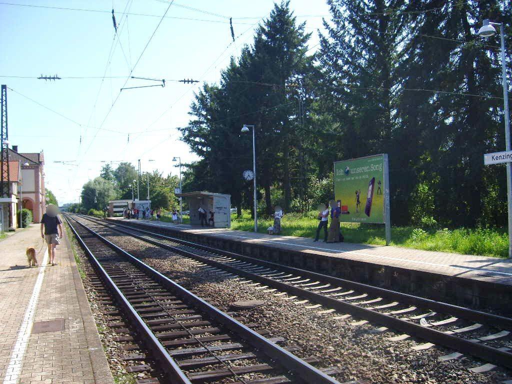 Bf Kenzingen, Bahnsteig Gleis 1