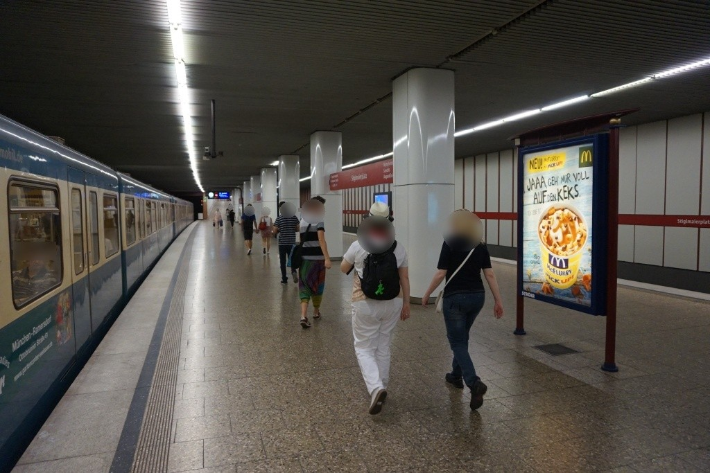Stiglmaierplatz/U-Bahnsteig Gleis 1