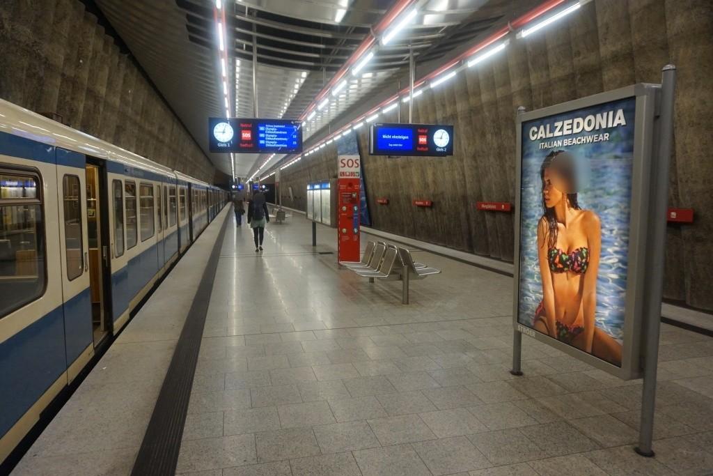 Mangfallplatz Bahnsteig Ost Gleis 1