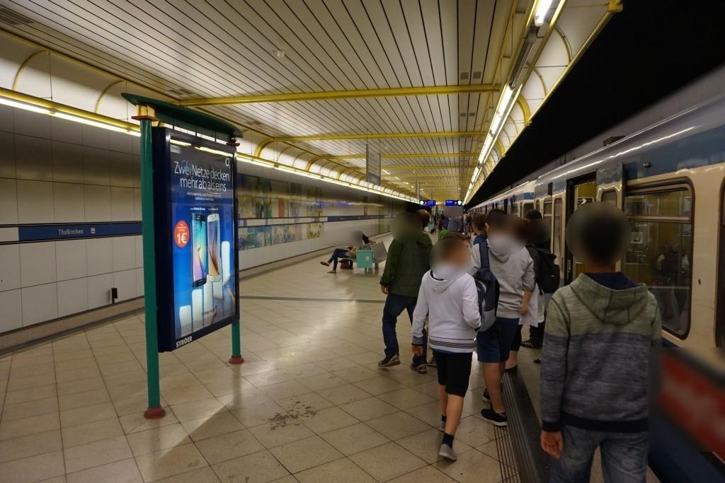 Thalkirchen/U-Bahnsteig Gleis 2, 1. Sto.
