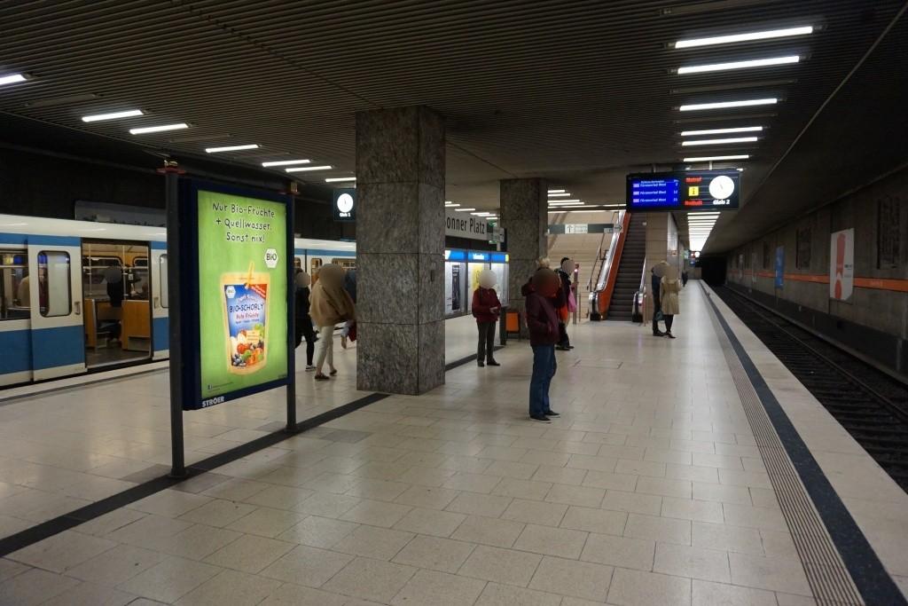 Bonner Platz/U-Bahnsteig Gleis 2, 1. Sto.