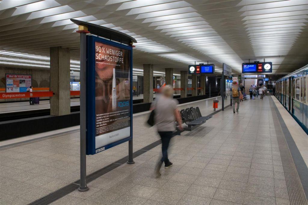 Olympiazentrum/Bahnsteig Gleis 1 Nord