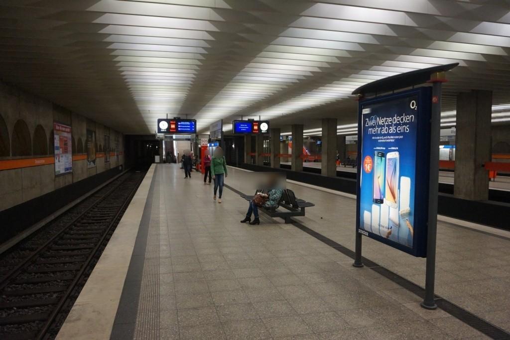 Olympiazentrum/Bahnsteig Gleis 2 Nord