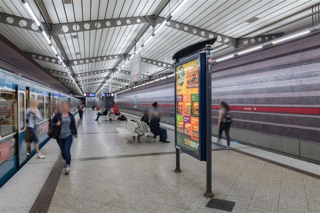 Harthof/U-Bahnsteig Ost Gleis 1