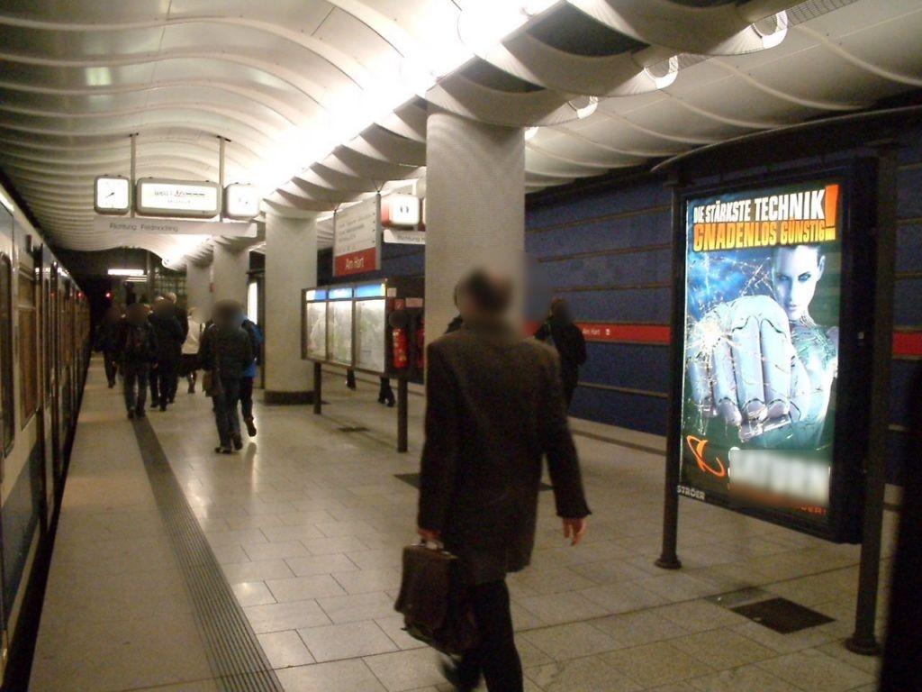 Am Hart/U-Bahnsteig Gleis 2 Ri. Hbf 2.Sto.