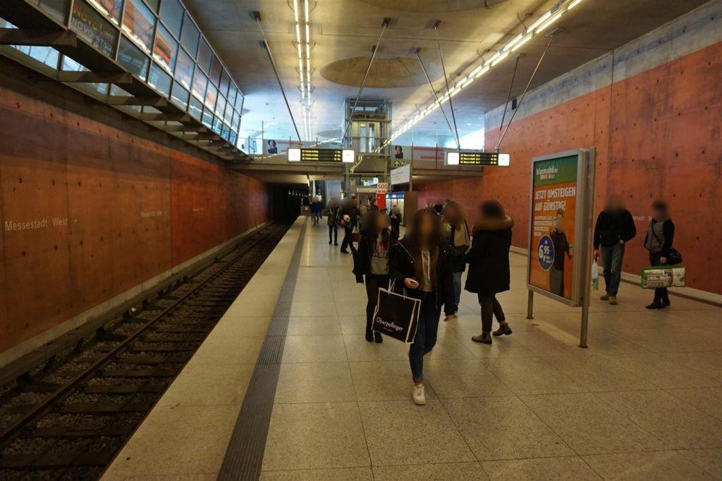 Messestadt West/Bahnsteig West Gl. 1, 1.Sto.