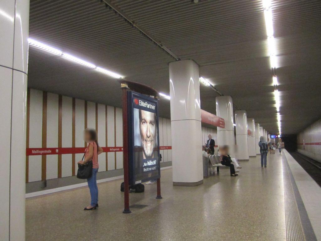 Maillingerstr./U-Bahnsteig Gleis 1