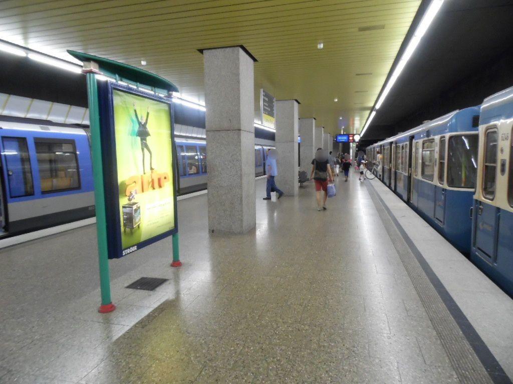 Laimer Platz/U-Bahnsteig Gleis 1, 2. Sto.