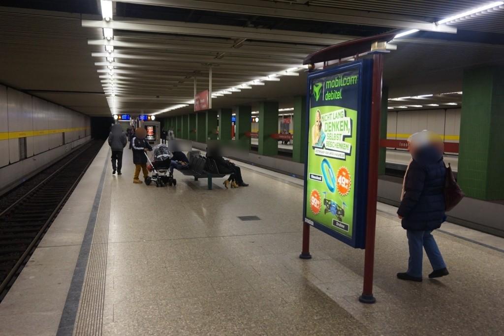 Innsbrucker Ring/U-Bahnsteig Gleis 3