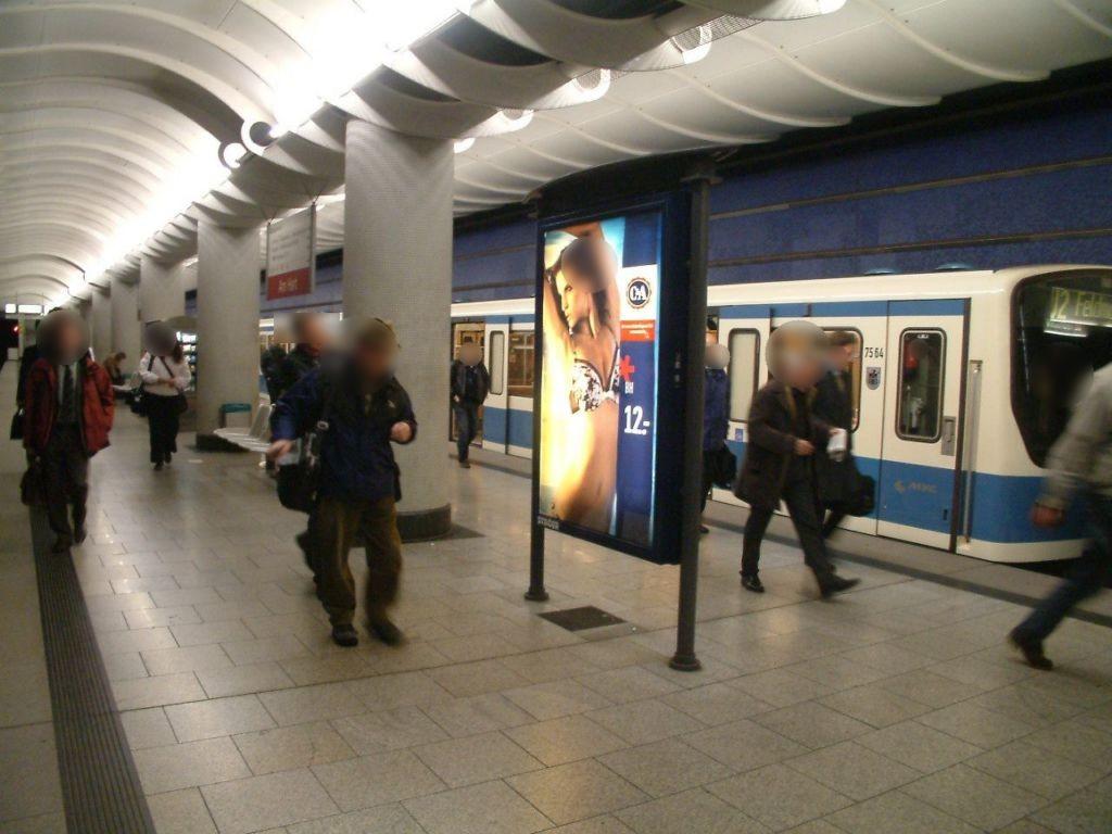 Am Hart/U-Bahnsteig Gleis 1 Ri. Feldmoching 3.Sto.