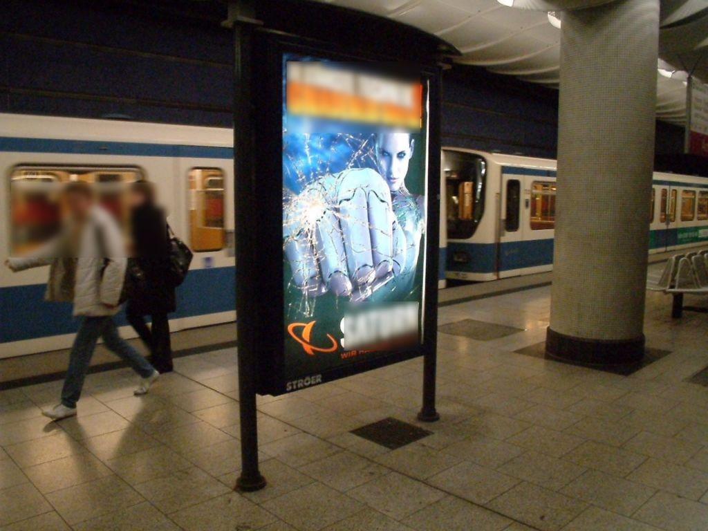 Am Hart/U-Bahnsteig Gleis 1 Ri. Feldmoching 4.Sto.