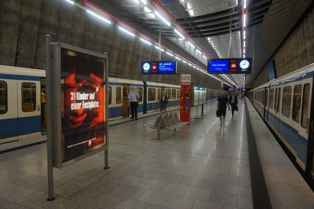Mangfallplatz Bahnsteig Ost Gleis 2