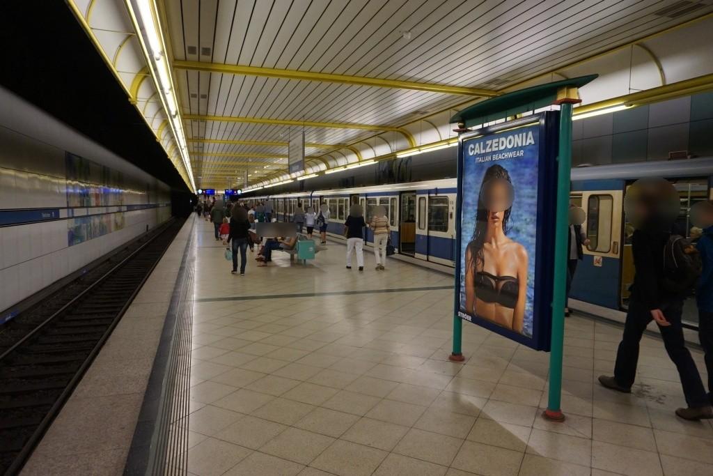 Thalkirchen/U-Bahnsteig Gleis 1, 2. Sto.