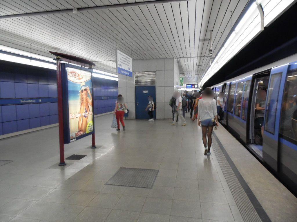 Brudermühlstr./U-Bahnsteig Gleis 2, 2. Sto.
