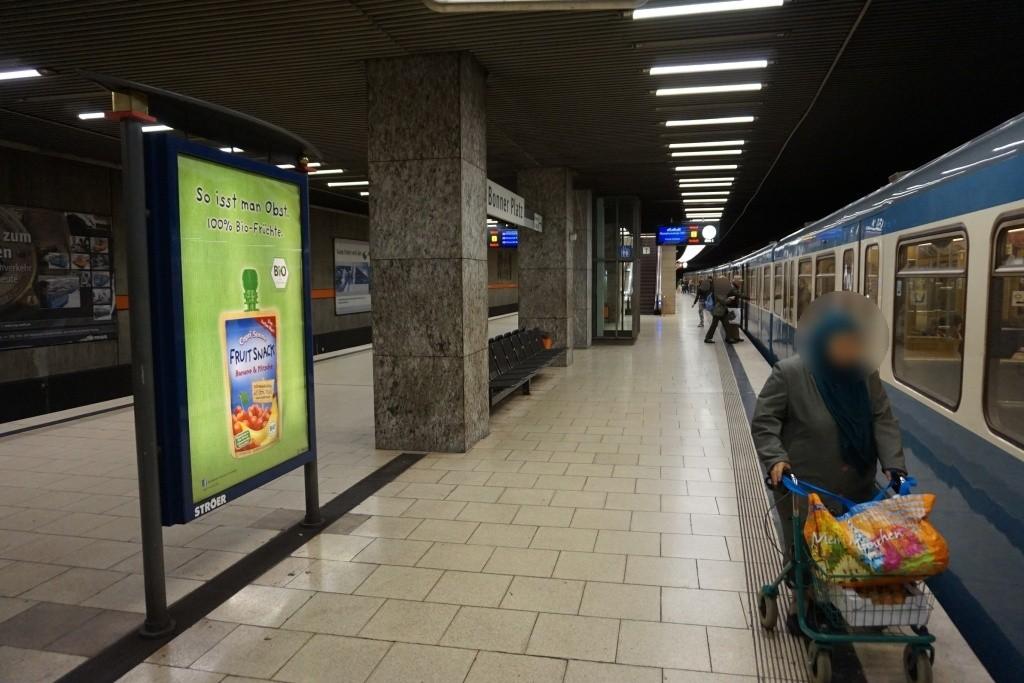 Bonner Platz/U-Bahnsteig Gleis 1, 1. Sto.