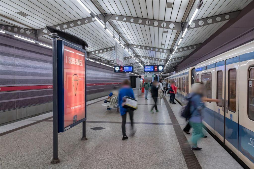 Harthof/U-Bahnsteig Gleis 2