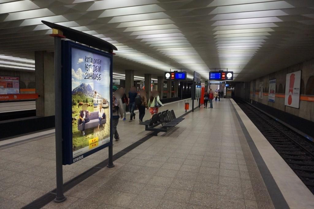 Olympiazentrum/Bahnsteig Gleis 2 Süd