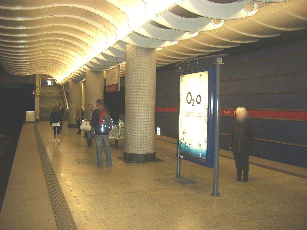 Am Hart/U-Bahnsteig Gleis 2 Ri. Hbf 3.Sto.