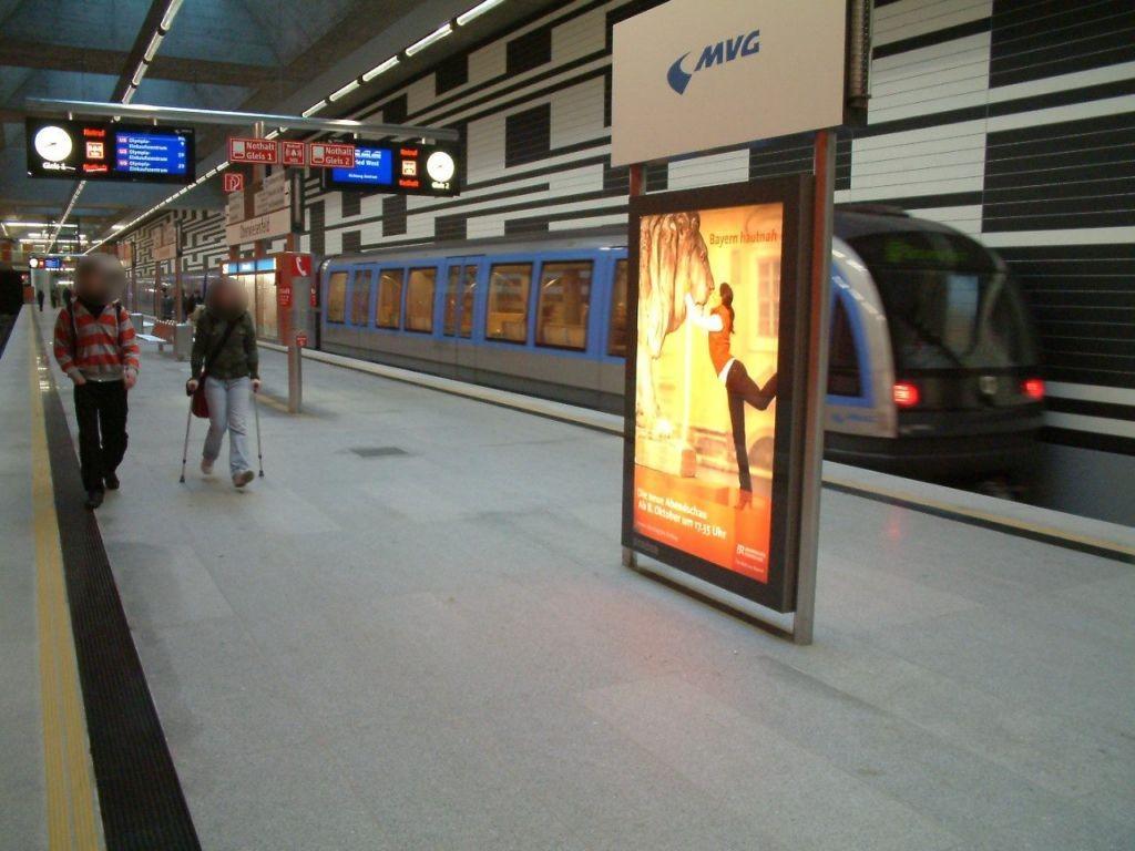 Oberwiesenfeld/ U-Bahnhof Bahnsteig West Gleis 1