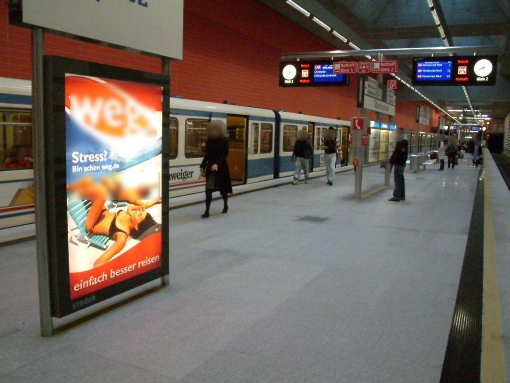 Oberwiesenfeld/ U-Bahnhof Bahnsteig West Gleis 2